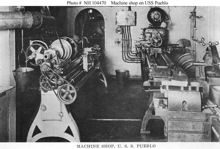 Machine shop on USS Pueblo 1919