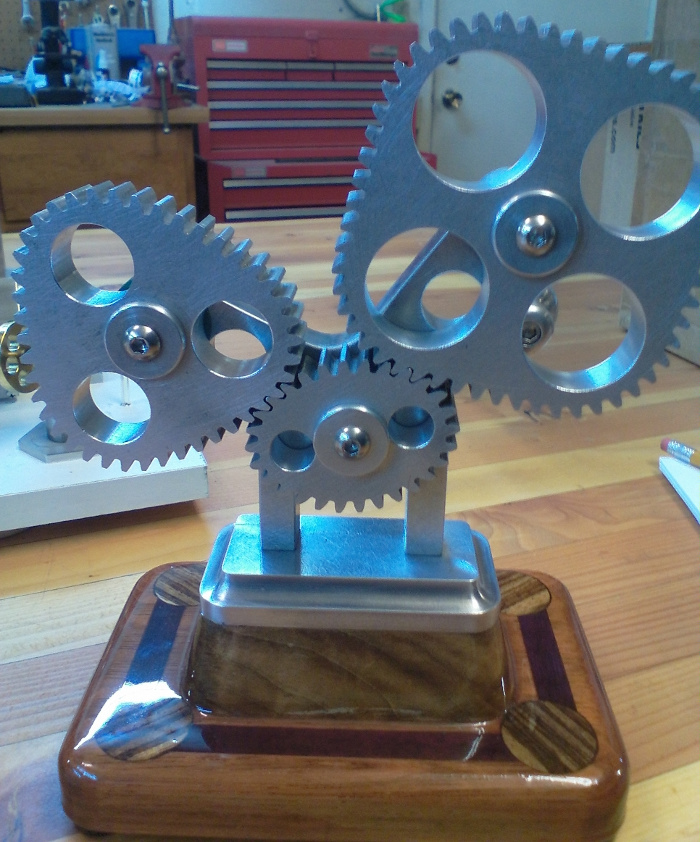 Picture of one of Bill's set of unusual gears