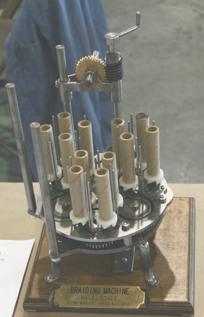 Braiding machine model by Roland Morrison and Gordon Williamson
